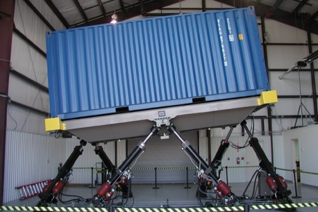 Ship simulator provides testing for containerized ammunition