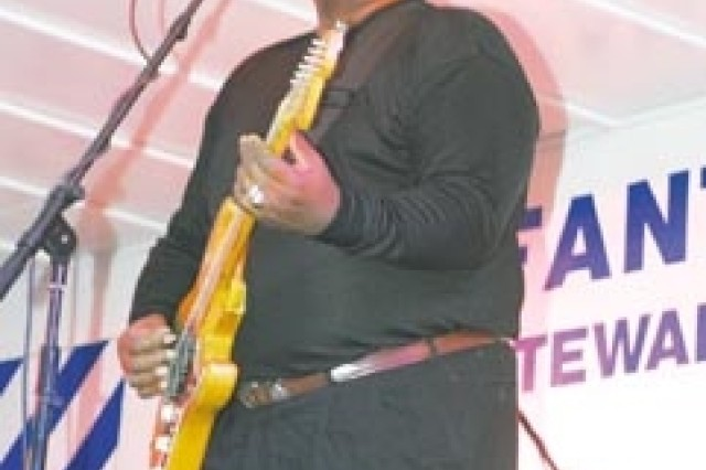 Barry Walker, Sr., known as Fatback, performed with Fatback and the Grove Band, Sept. 20 at the Blues and BBQ event in Bradwell Park in Hinesville, GA.