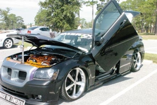 A tricked-out Dodge Magnum exhibit showcased during the RPM Car Show, Sept. 20.