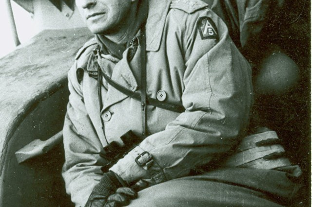 World War II period image of then Lieutenant General Mark Clark, commader of the Fifth Army oparteing in Italy. (Mark Clark Photograph Collection).