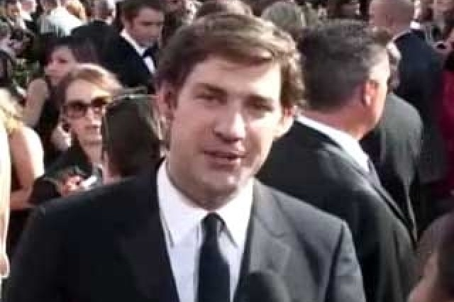 "John Krasinski, who plays Jim on ""The Office,"" thanks the Troops at the Emmys."