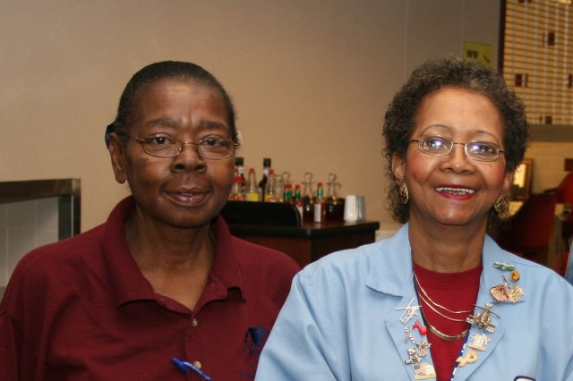 Molly Ponder (left),MWR Cafeteria Manager and Martha Dillard, Phoenix Services.