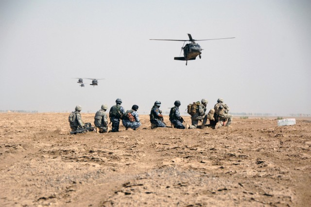The 38th IA Bde. and the 2nd Bn., 7th Cav. Regt., 4th BCT, 1st Cav. Div. completed their second combined tactical air insertion in the 4th BCT's three months of partnership with the Iraqi unit Sept. 28.