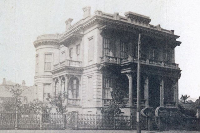 Image shows the building housing General Butler's Headquarters during the occupation of New Orleans. (Mass MOLLUS Photograph Colection).