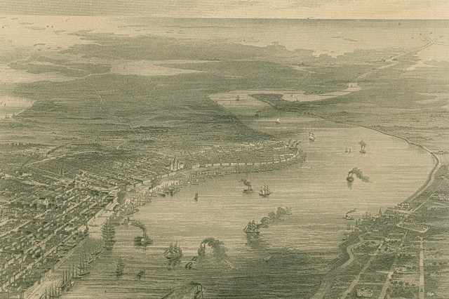 Illustration of the city of New Orleans.(Mass MOLLUS Photograph Collection).