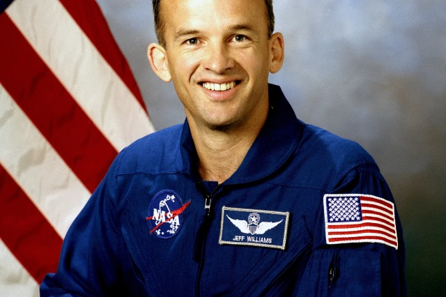 Astronaut Col.  Jeffrey N. Williams (Ret.), mission specialist.
