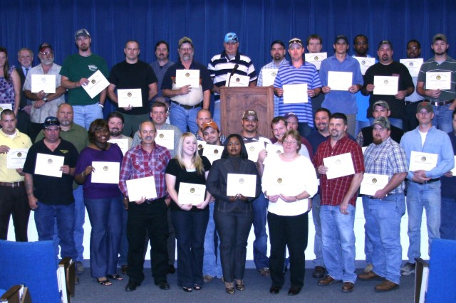 Red River Army Depot graduated 53 apprentices during a ceremony October 2. All of the apprentices work and trained in the Maintenance Directorate at the depot.