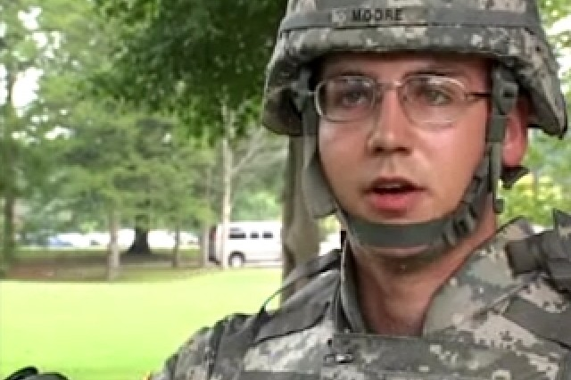 Spc. Michael Moore, SOY Competitor