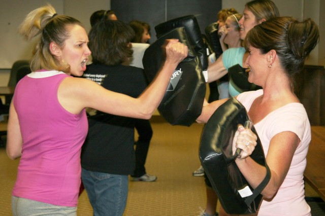 Self-defense class at Fort Carson
