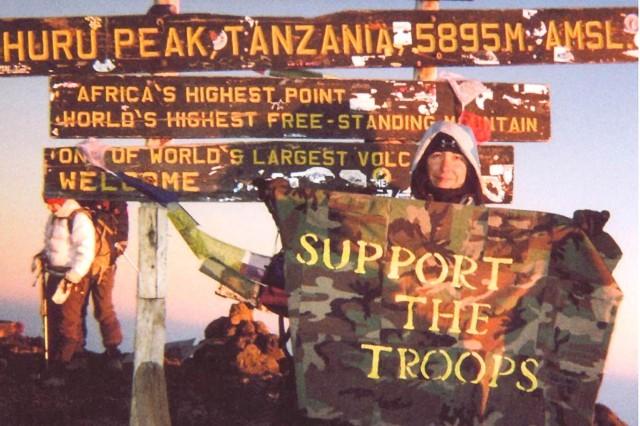 At Mount Kilimanjaro's summit