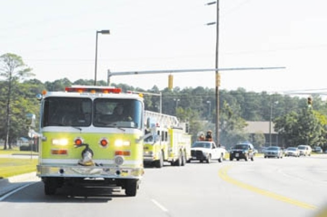 Fire and safety trucks kicked off the Fort Stewart Fire Station One open house with a parade through all of Fort Stewart housing areas, Oct. 4. The event was held by firefighters and inspectors in observance of Fire Prevention week, Oct. 5 - 11.