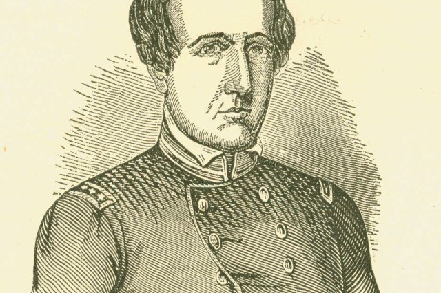 """Illustration showing Colonel Thomas Childs, commander of the 1st U. S. Artillery. """""""