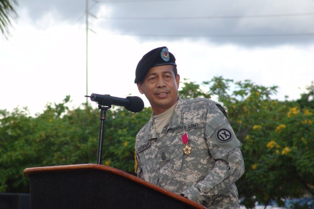 Wacker takes over responsibilities as 9th MSC's command sergeant major