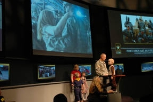 Staff Sgt. Cory Casto, 1st Battalion, 9th Field Artillery, 2nd Brigade Combat Team, 3rd Infantry Division and his Family speak about their life at Fort Stewart. Casto spoke Oct. 7 at the Association of the United States Army in Washington D.C.