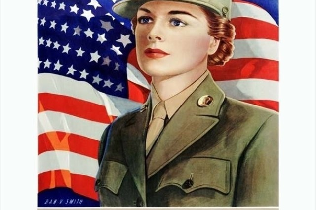 Womens Auxiliary Army Corps Recruiting Poster in the Army Heritage Museum Poster Collection at Carlisle Barracks, Pa.