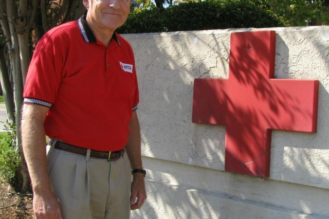 With his military years behind him, retired Lt. Col. Joe Sims is now standing up for the American Red Cross. He works as a Disaster Services volunteer through the Madison-Marshall County Chapter of the Red Cross. His work has involved him in the relief efforts of several hurricanes, including most recently Hurricane Ike.