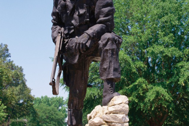 The Iron Mike statue represents the Airborne Trooper in Fayetteville, N.C.