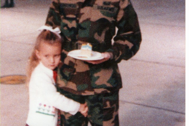 "Former Maj. Meg Kulungowski and daughter Megan, (seen here at age 4 and now a first lieutenant) are the first mother-daughter graduates from West Point. Lt. Megan Kelvington graduated 25 years to the day of her mother, May 27, 2006. Kelvington said that her mother was a great source of motivation and always pushed her to ""never let anyone tell you that you can't."""