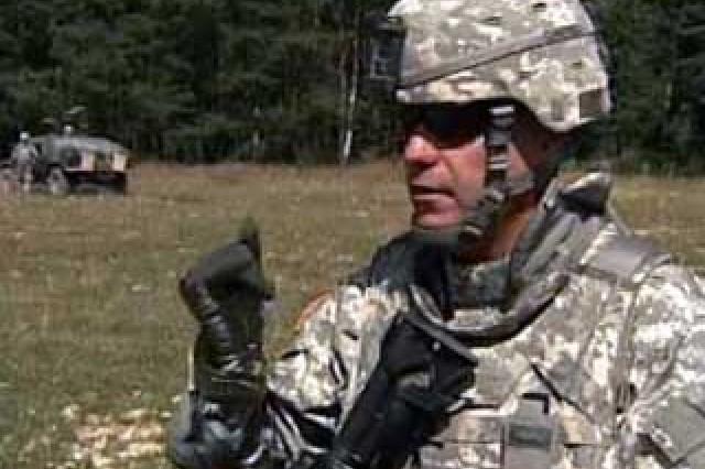 Sgt. 1st Class Dominic Rymarczvk, Platoon Sergeant.