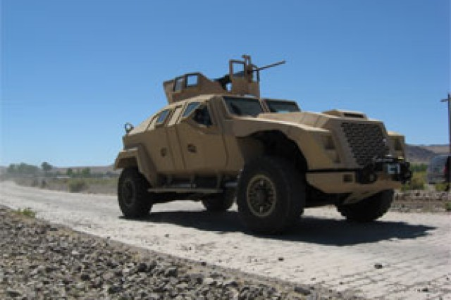 The Office of Naval Research Combat Tactical Vehicle Technology Demonstrator shown here was developed as a technology demonstration as part of the larger development process for the Joint Light Tactical Vehicle.  The JLTV is a joint program between the Army, the Marine Corps and U.S. Special Operations Command, where the Army has been designated as the lead agency.  The JTLV family of vehicles will eventually provide the Joint Services with a balance between three key factors: performance, payload and protection.  The Army recently chose contractors to conduct technology development on the JTLV.