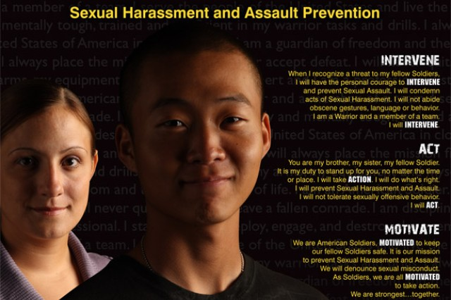 The Army has developed new Sexual Assault Prevention Program posters as part of its I. A.M. Strong campaign.