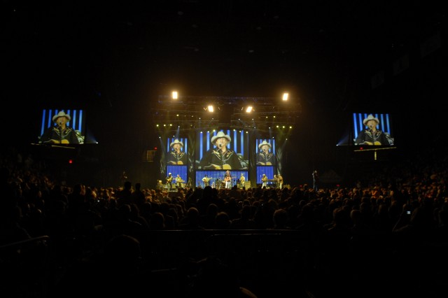 More than 8,000 enthusiastic music fans packed the Patriot Center to hear country music stars Alan Jackson, Trace Adkins and James Otto.