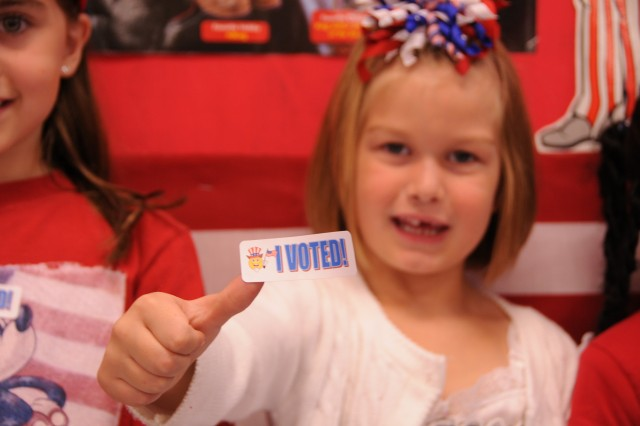 Fort Rucker Primary students cast votes