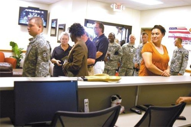 The Soldier and Family Assistance Center services the Warrior Transition Battalion and guides wounded Soldiers and their Families through the process of either returning to duty or transitioning to a new career outside the military.