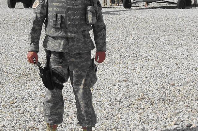 Lt. Col. Chaklos at Ghazni Airfield, Afghanistan.