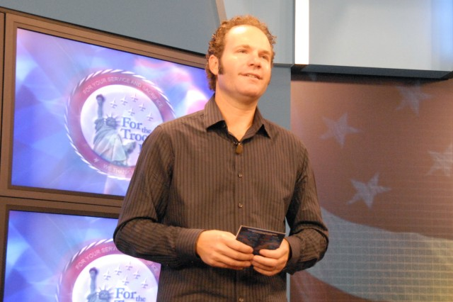 """John Ondrasik of Five for Fighting talks about the """"CD for the Troops II"""" project he spearheaded. The CD will be distributed to servicemembers and available for download at AAFES.com starting Nov. 25."""