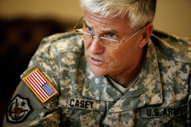 Army Chief of Staff Gen. George W. Casey Jr., sat down with the Northwest Guardian to discuss I Corps' impending deployment and how Fort Lewis Soldiers helped him develop balanced goals for the Army.