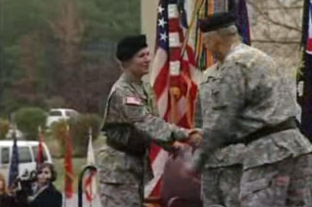 Gen. Ann Dunwoody at Fort Belvoir, Va.