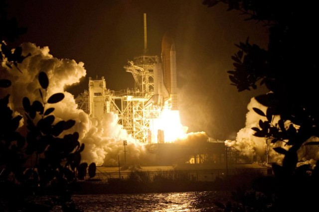 Army astronaut blasts off on latest shuttle mission