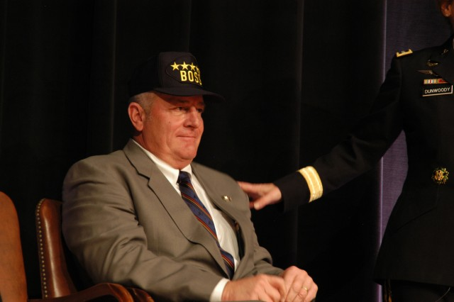 Brotchie wears a five-star BOSS cap he received from Dunwoody.