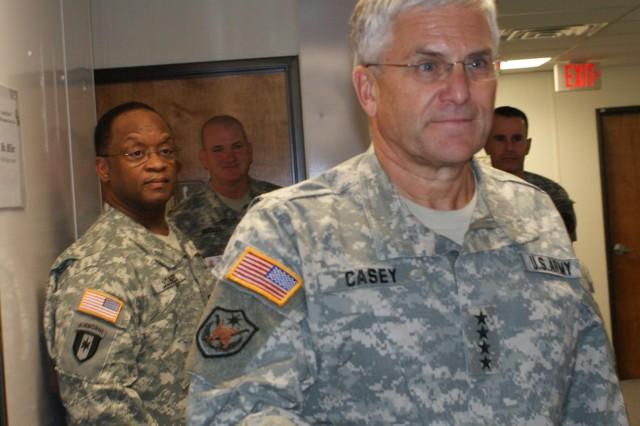 Gen Casey visits Texas Medical Evaluation Board Clinic