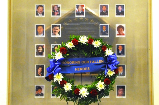 The military and civilian employees of the Army's G-1 and Manpower and Reserve Affairs offices who were killed during the Sept. 11, 2001 terrorist attack on the Pentagon are part of a memorial near the G-1's office in the building.