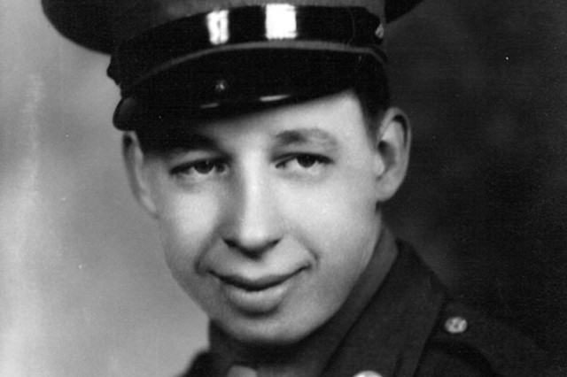 Carrol Collins as a young Soldier in World War II. He eventually deployed to Korea as well.