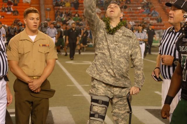 University of Hawaii Warrior coin toss