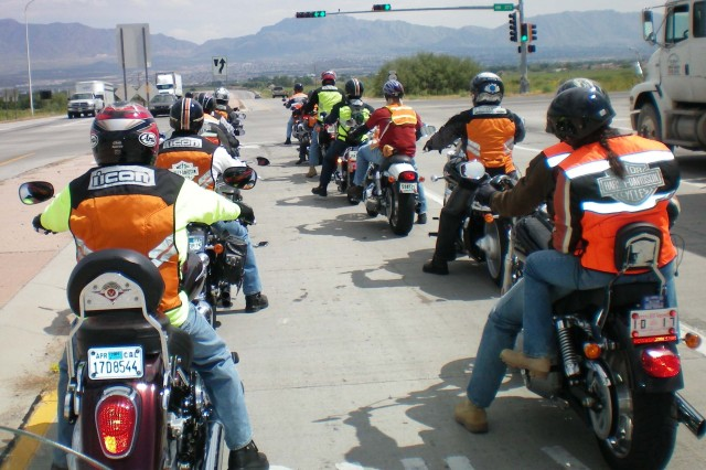 Fort Bliss Bikers raise money for Wounded Warriors