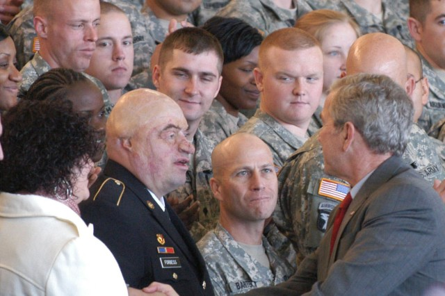 SSG Forbess honored by President Bush