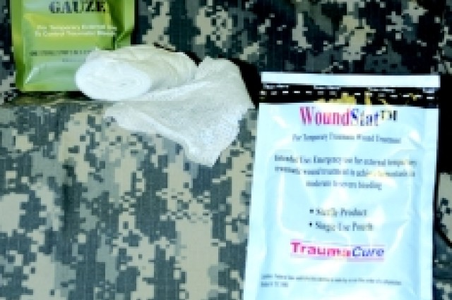 Combat Gauze and WoundStat granules give Army medics a better chance of saving bleeding casualties.
