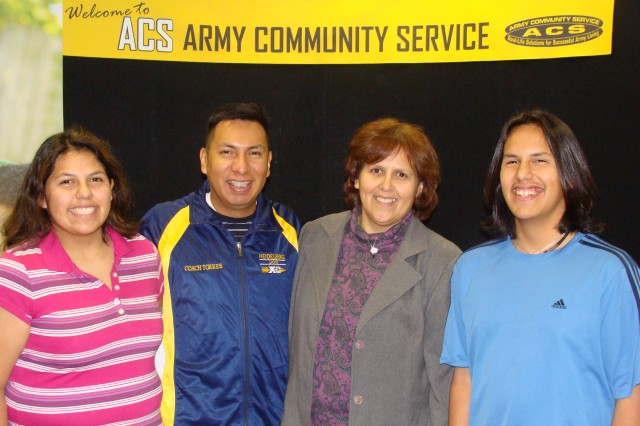 Geanna Torres and Army spouse with her family