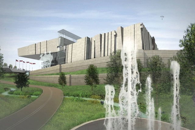 Conceptual rendering of National Army Museum planned for construction at Fort Belvoir, Va.