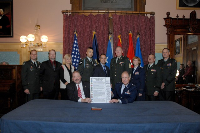 Michigan Military Family and Community Covenant Signing