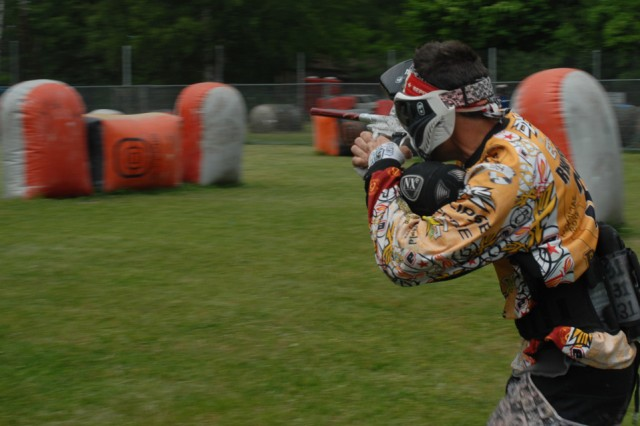 Ryan Podesta, a professional paintball player and instructor from the States, participated in a three-day training course held earlier this year by the Installation Management Command-Europe Workforce Development Center in Schwetzingen, Germany.
