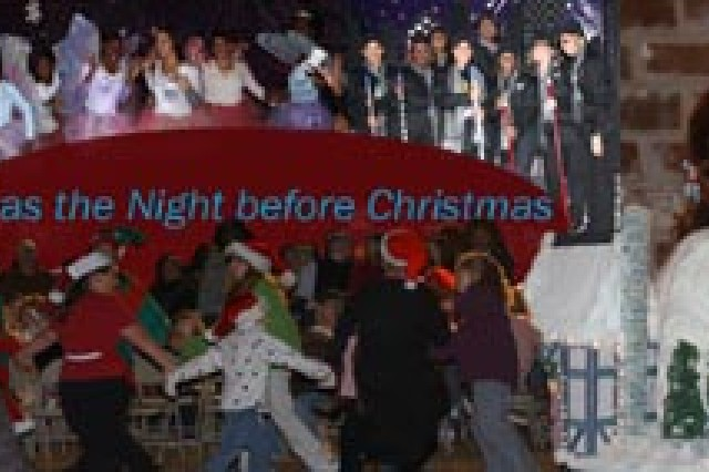 More than 1,000 Soldiers and Family Members experienced 'T'was the Night before Christmas', Dec. 4 and 8 at the installation clubs for the annual Christmas Tree lighting celebrations on Fort Stewart-Hunter Army Airfield that featured the singing of Yolanda Hingel and a visit from Santa.