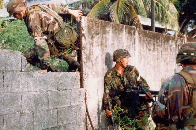 Image shows unidentified US Army personnel involved in the operations conducted in Panama(Panama Photograph Collection).