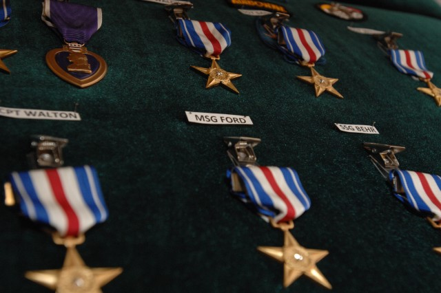 Nineteen 3rd Special Forces Group soldiers received the Silver Star Medal during a Valor Awards Ceremony in the JFK Auditorium at Fort Bragg, N.C., Dec. 12, 2008. The Silver Star is the 3rd highest military decoration that can be awarded to any member of the United States Armed Forces.
