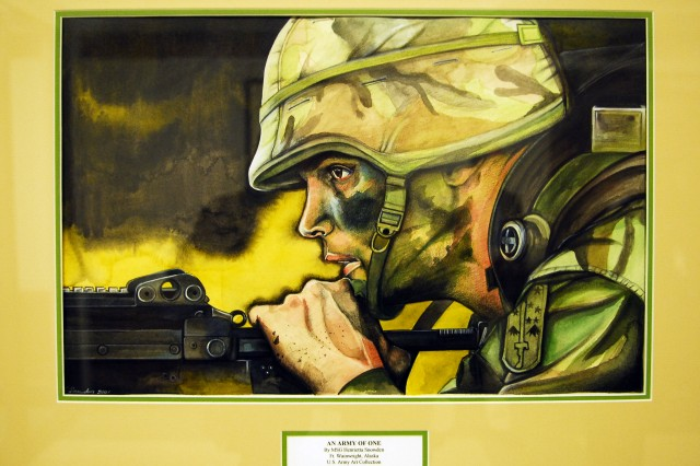 Some 80 pieces of original artwork are on display at the new U.S. Army Pentagon Exhibit -- A Living History that chronicles the story of the American Soldier since the Army's birth on June 14, 1775.