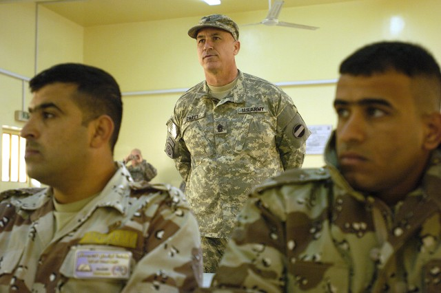 orces command top enlisted sees improvement in the Iraqi noncommissioned officer firsthand
